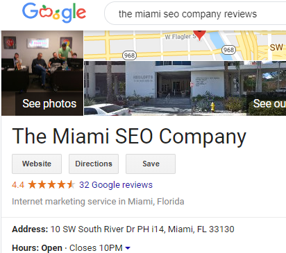 the miami seo company reviews